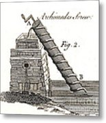 Archimedes Screw, 1769 Metal Print