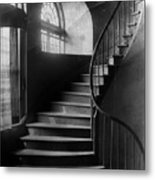 Arching Stairwell Metal Print