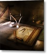 Architect - The Drafting Table  Metal Print
