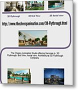 Architectural 3d Flythrough Metal Print