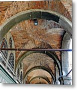 Architectural Ceiling Of The Building Owned By The Rialto Market In Venice, Italy Metal Print