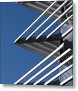 Architectural Detail Of Triangles Metal Print
