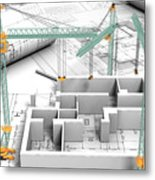 Architectural Drafting Services Metal Print