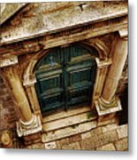 Architectural Green Door Dibrovnik Metal Print