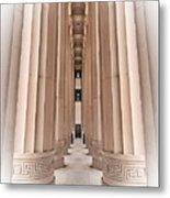 Architectural Pathway Of Pillars Metal Print
