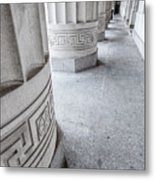 Architectural Pillars Metal Print