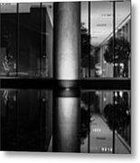 Architectural Reflecting Pool Metal Print