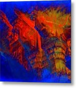 Architecture Detail  Amber Fort Palace India Rajasthan Jaipur Abstract Square 1a Metal Print
