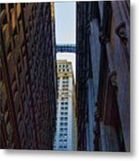 Architecture New York City The Crossing  Metal Print