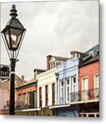 Architecture Of The French Quarter In New Orleans Metal Print