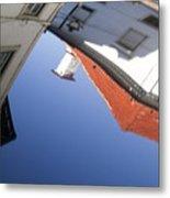 Architecture Reflection Metal Print