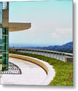 Architecture View Getty Los Angeles  Metal Print