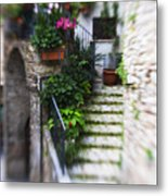 Archway And Stairs Metal Print