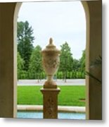 Archway Window To The Garden Metal Print