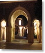 Archways At Night Metal Print