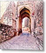 Archways Ornate Palace Mehrangarh Fort India Rajasthan 1a Metal Print