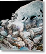 Arctic Encounter Metal Print