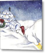 Are You In There Santa Metal Print