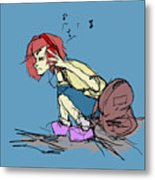 Are You Listening Metal Print