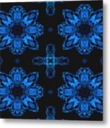 Area Blue Abstract Metal Print