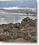 Area By Godafoss Waterfalls, Iceland Metal Print