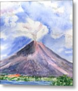 Arenal Volcano Costa Rica Metal Print by Arline Wagner