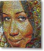 Aretha Franklin Tribute Mosaic Portrait 2 Metal Print