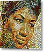 Aretha Franklin Tribute Mosaic Portrait 3 Metal Print