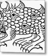 Argus Sea Monster, 1537 Metal Print