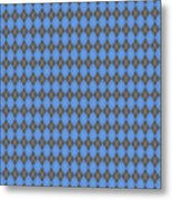 Argyle Diamond With Crisscross Lines In Pewter Gray T18-p0126 Metal Print