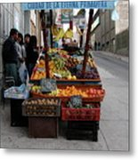 Arica Chile Fruit Stand Metal Print