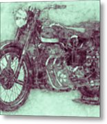 Ariel Square Four 3 - 1931 - Vintage Motorcycle Poster - Automotive Art Metal Print