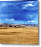 Arising Storm Over Calgary Metal Print