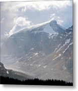 Arising Storm Over Glacier Metal Print