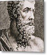 Aristotle, Ancient Greek Philosopher Metal Print