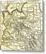 Arizona Territory Antique Map 1891 Metal Print