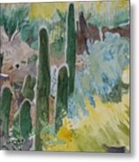 Arizona Cacti Metal Print