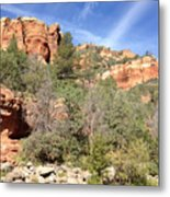 Arizona Canyon Sky Four Metal Print