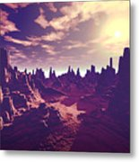 Arizona Canyon Sunshine Metal Print