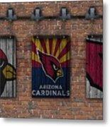 Arizona Cardinals Brick Wall Metal Print