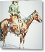 Arizona Cowboy, 1901 Metal Print