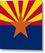 Arizona Flag Art Metal Print