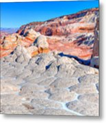 Arizona- Paria Plateau- White Pocket Metal Print