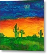 Arizona Rain Metal Print