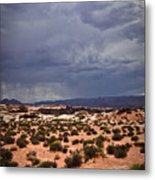 Arizona Rainy Desert Landscape Metal Print