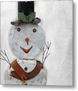 Arizona Snowman Metal Print