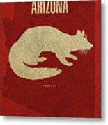 Arizona State Facts Minimalist Movie Poster Art Metal Print