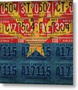Arizona State Flag Vintage License Plate Art Metal Print