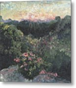Arkansas Mountain Sunset Metal Print