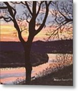 Arkansas River Sunset Metal Print